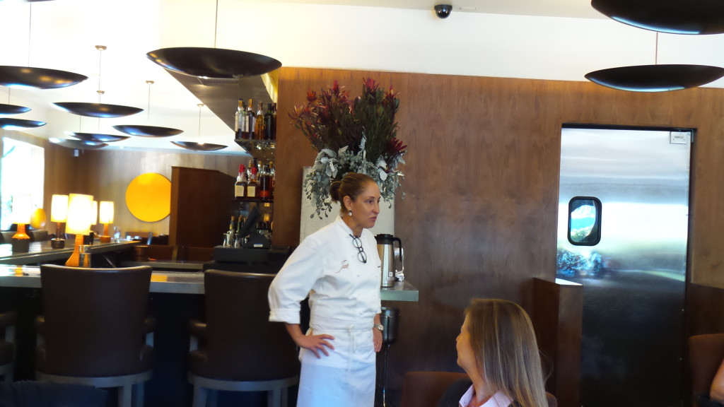 Chef Suzanne Tracht came out and shared a little bit about herself and her wonderful restaurant with the group!