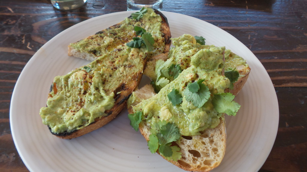 Avocado Toast, cilantro, chilis