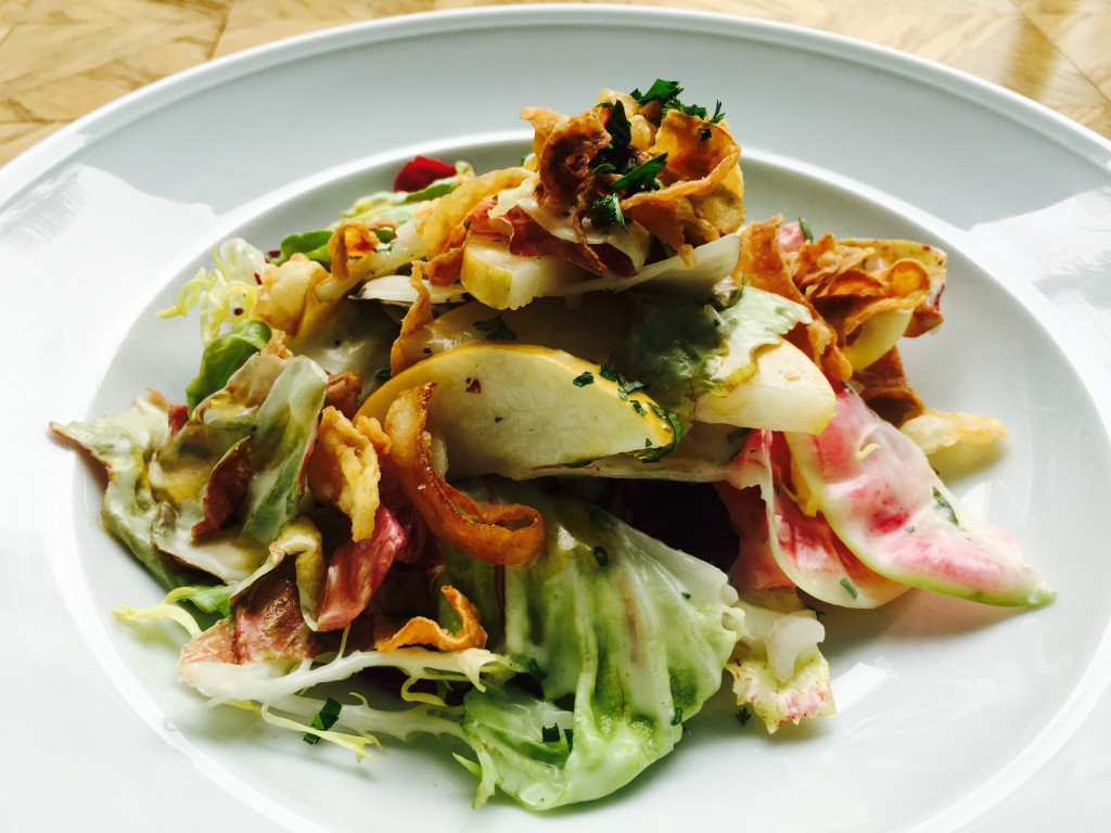 Asian Pear and Chicory Salad - Crispy Fennel, Creamy Champagne Vinaigrette
