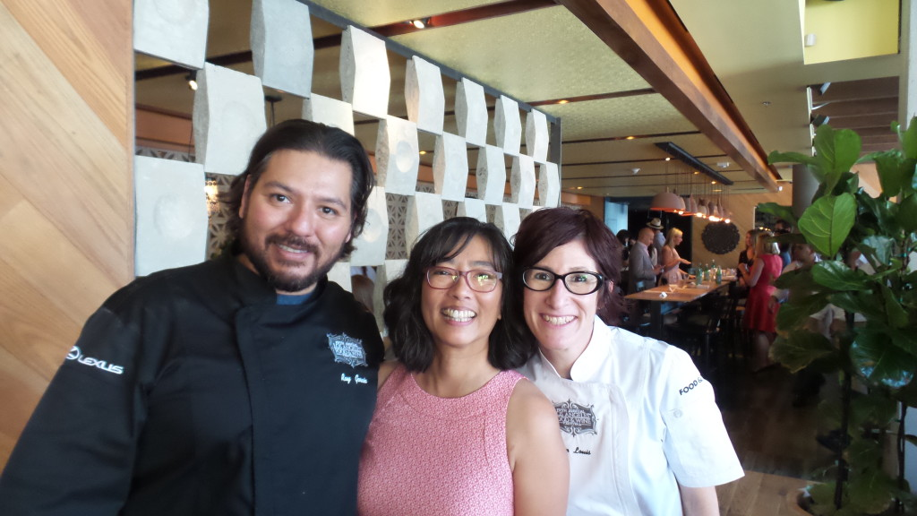 Because the lunch was a relatively small group, I was able to chat with the chefs at the end and grab a photo! With Ray Garcia and Jenn Louis