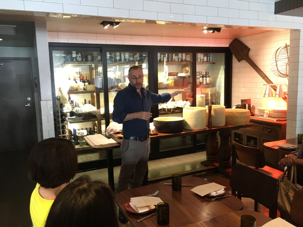 GM Mario welcomes our group of ladies to the restaurant,