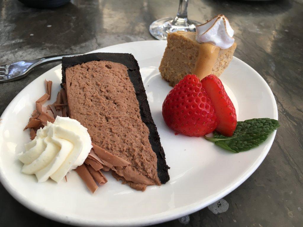Chocolate Silk Pie and Pumpkin Cheesecake