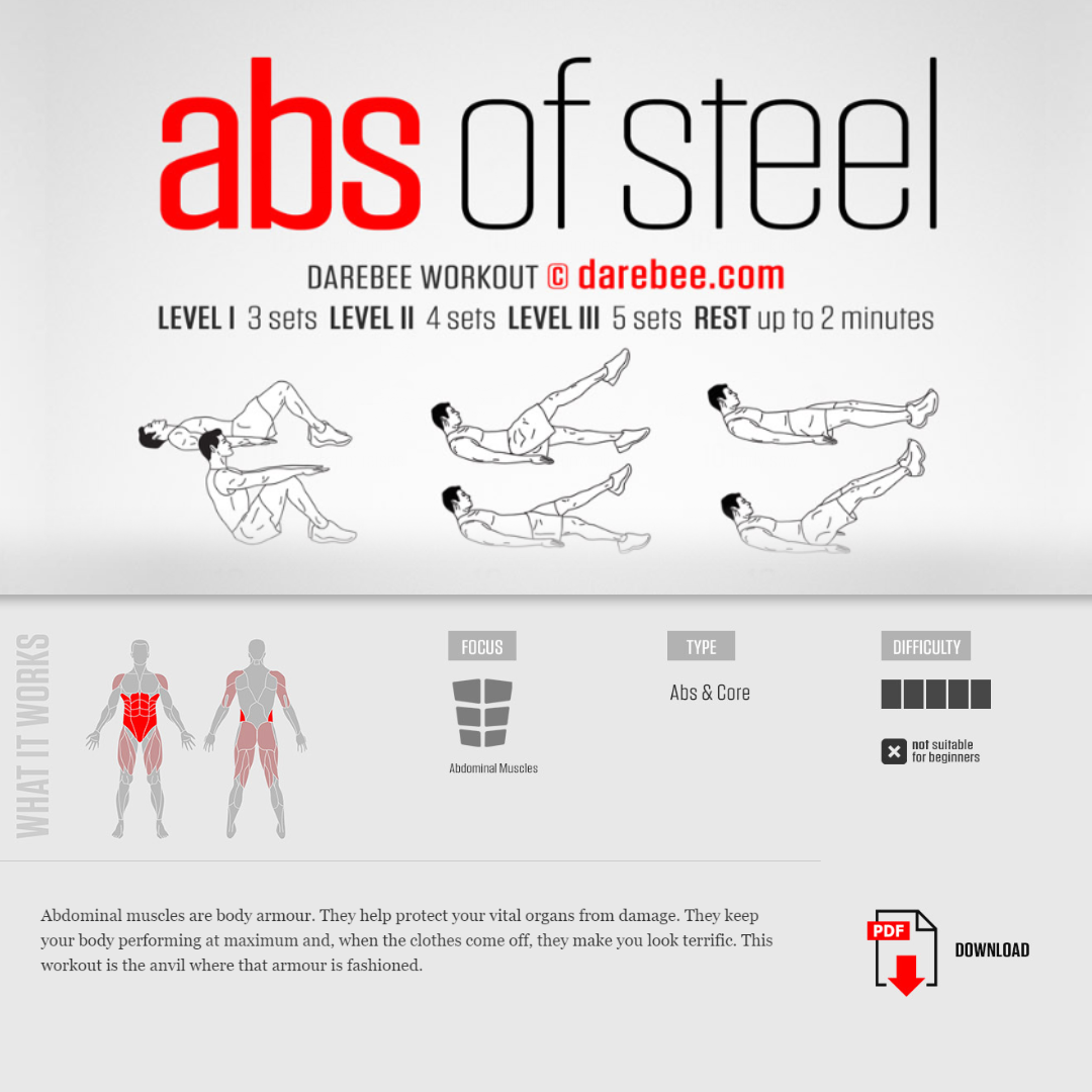 #PreGaming: DAREBEE Abs Of Steel Workout