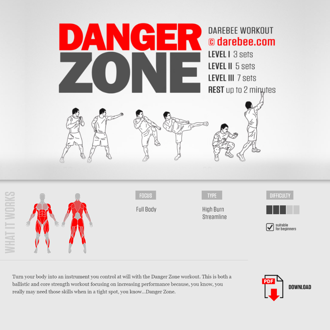 #PreGaming: DAREBEE Danger Zone Workout