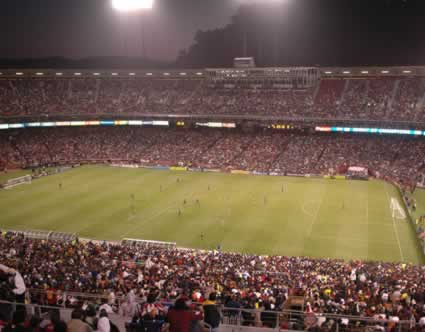 Soccer at Candlestick Park in San Francisco