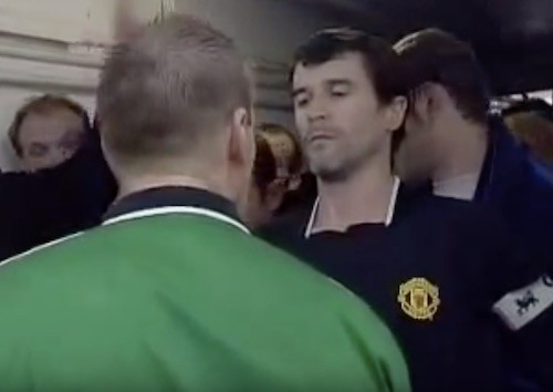 Keane and Viera Fighting