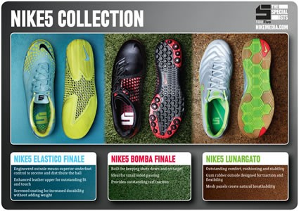 Nike5 Soccer Shoe Collection