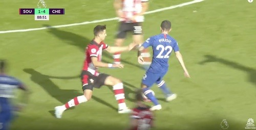 Pulisic Give and Go