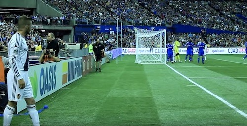Beckham Taking Corner Kick