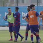 Fati Training Barca