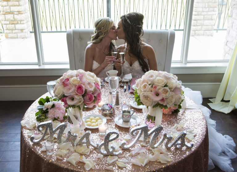 two brides LGBT wedding
