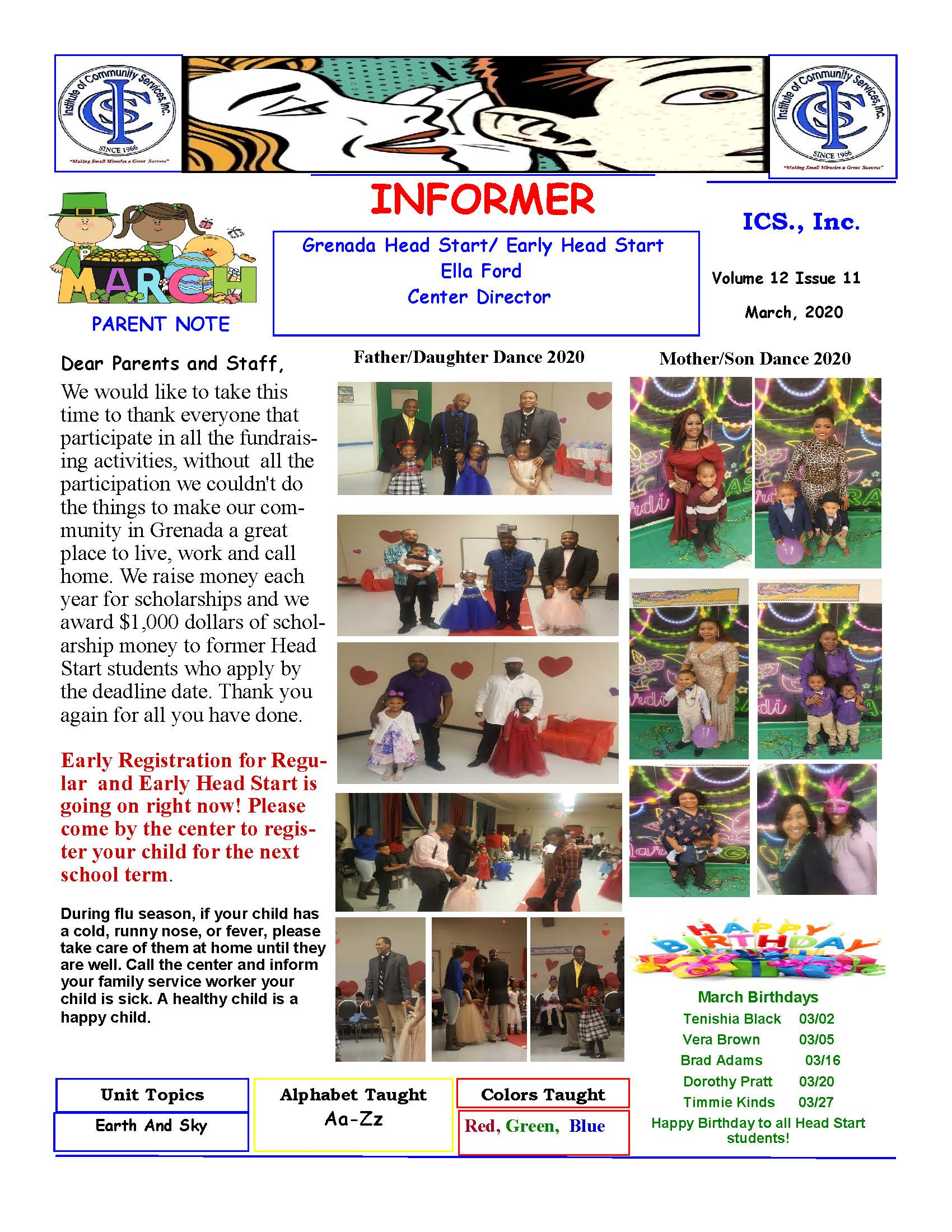 Grenada Head Start Newsletter March 2020
