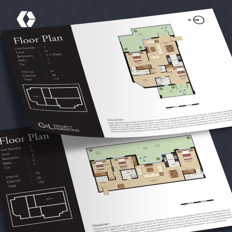 Full Color Floor Plan Illustration