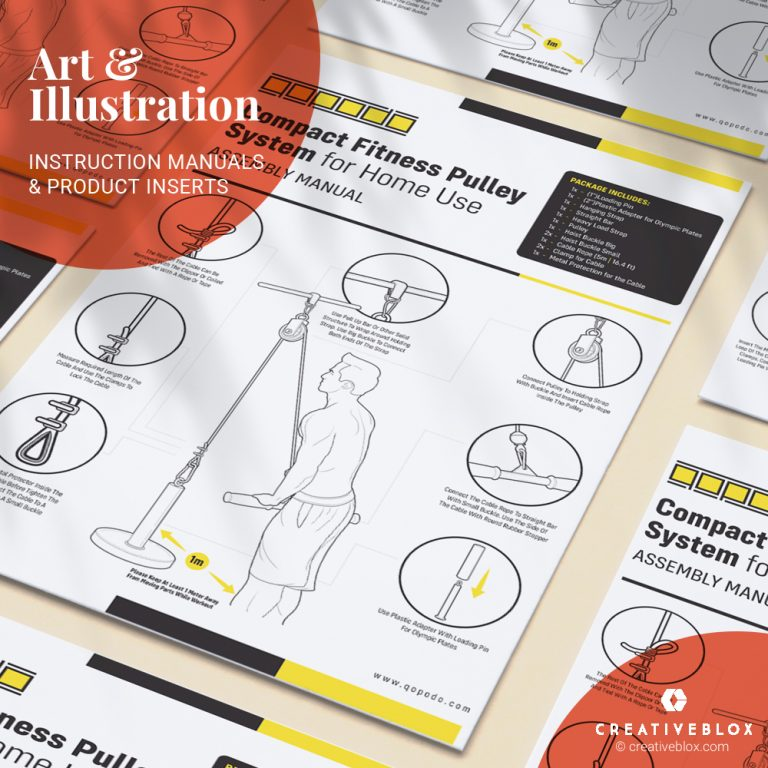 Fitness Instructions Illustration