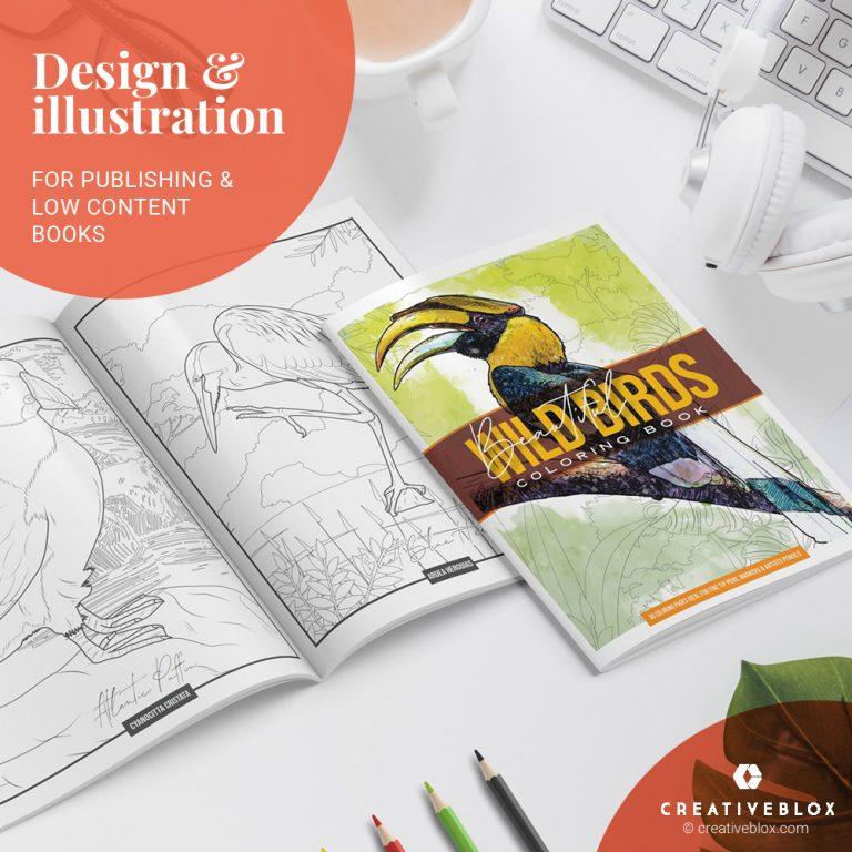 Wild Birds KDP Books Illustration