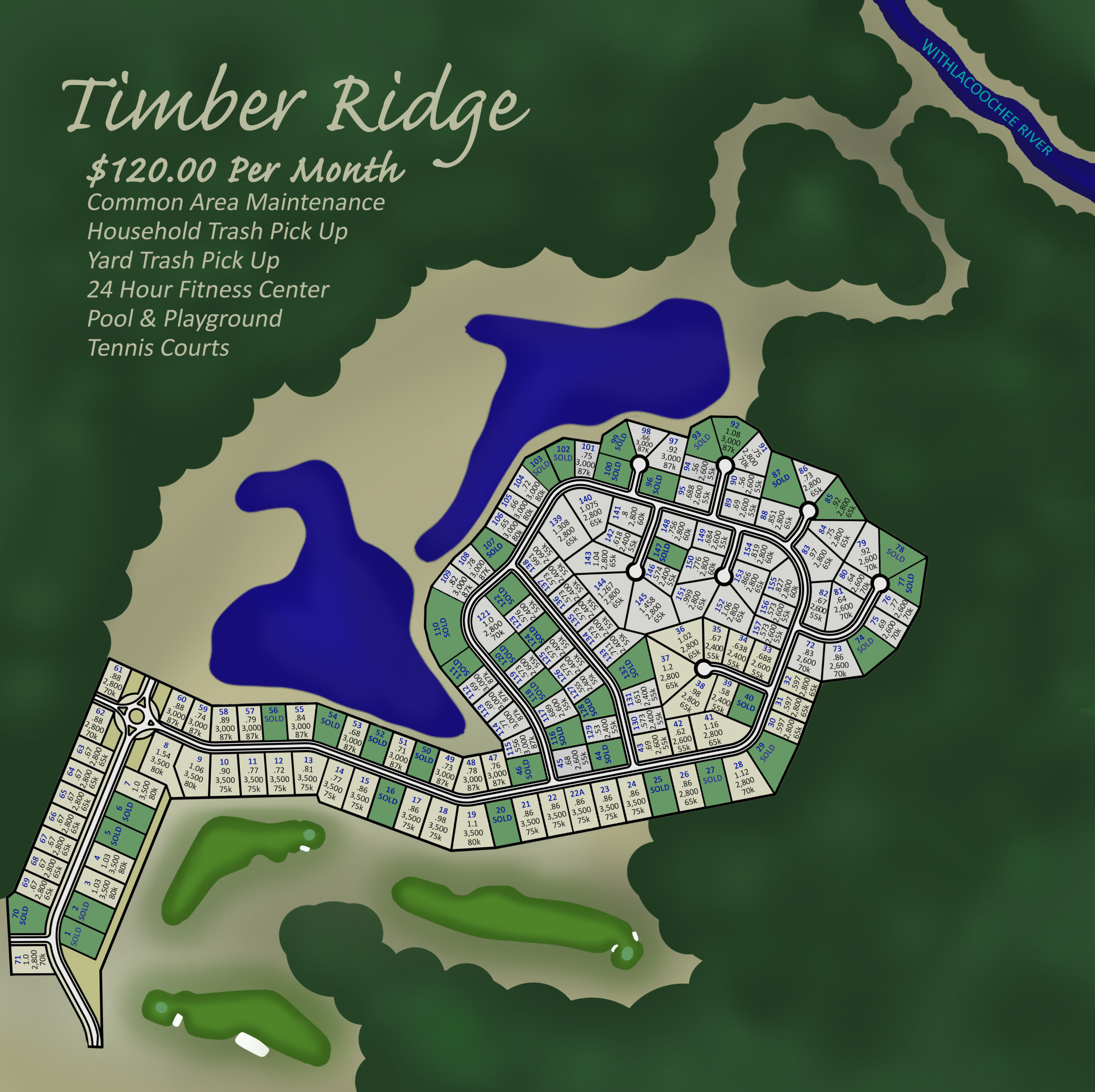 Timber Ridge Lot Map