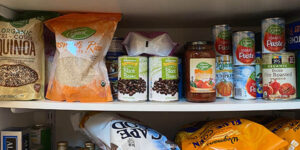 Dry Goods Stored in Home Pantry