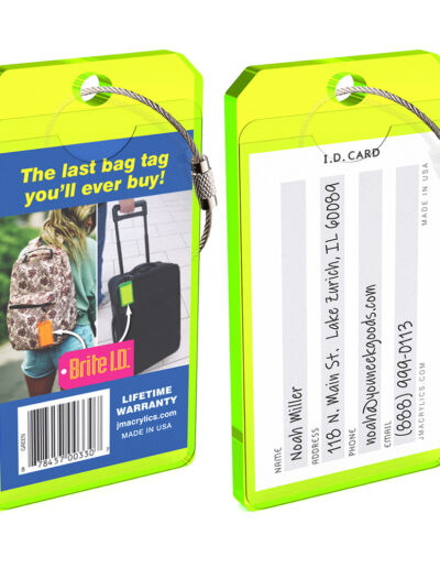 Uneek Goods Brite-ID Luggage Tag