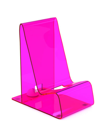 Uneek Goods Acrylic Cell Phone Holder in Pink
