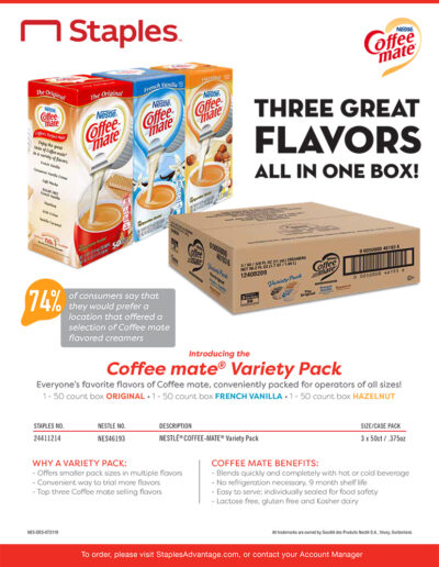 Coffee mate Variety Pack