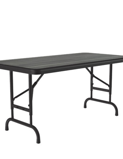 Correll New England Driftwood High Pressure Folding Adjustable Height Table