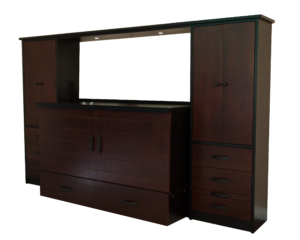 metro cabinet bed with wall units