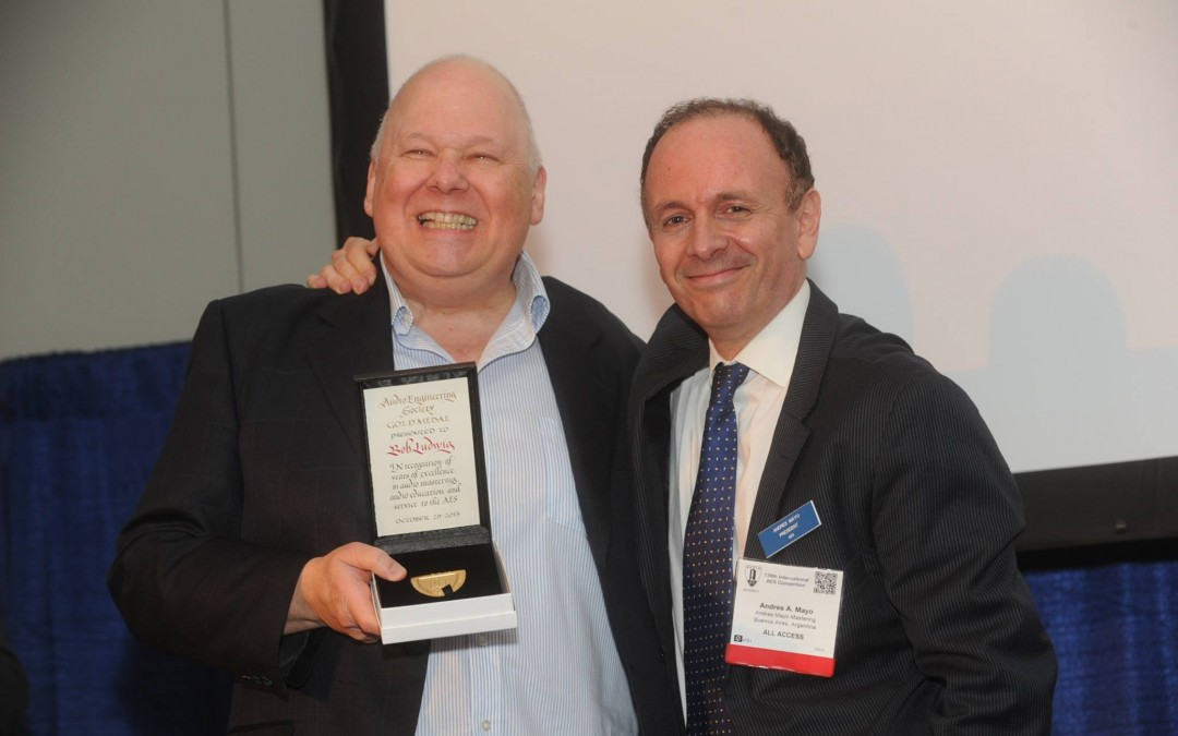 Bob Ludwig awarded the AES Gold Medal!