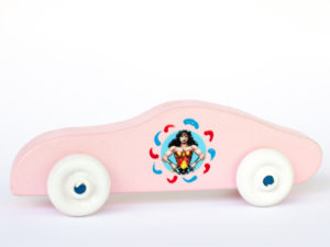 Pink Car Wonder Woman Image