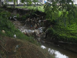 Garbage Dams like this are everywhere in Honiara.