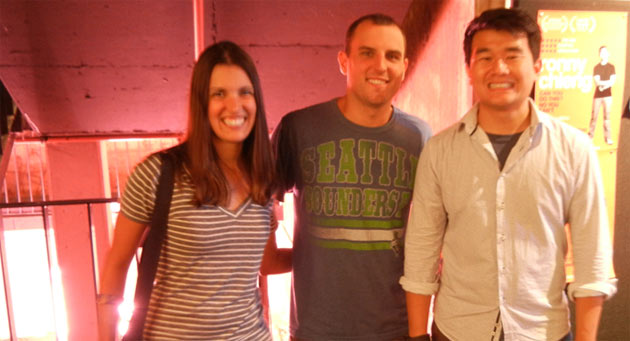 Us with Ronny after the show