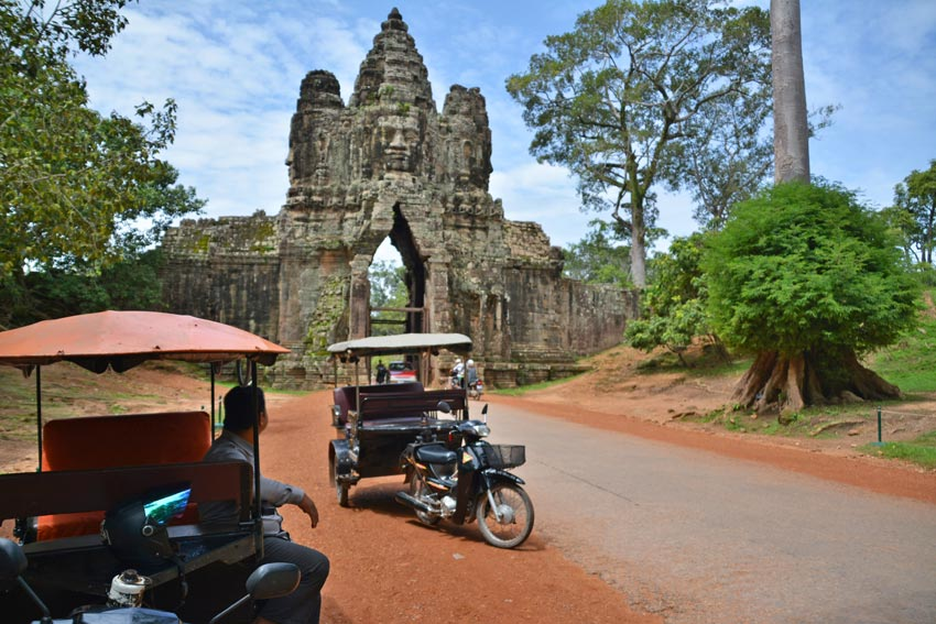 The gates of Angkor Thom
