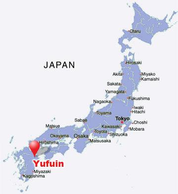 yufuin-japan-map