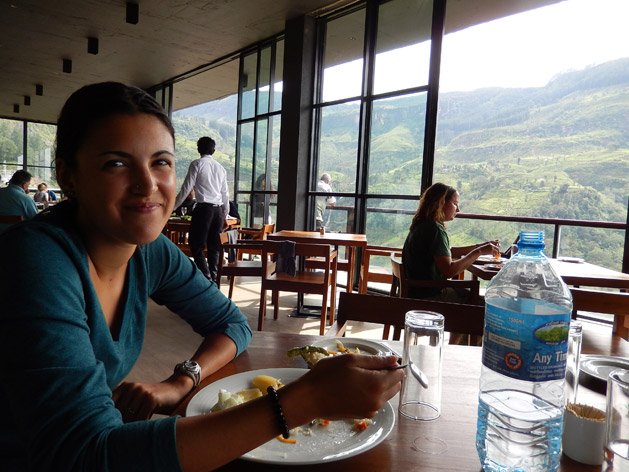 Lunch overlooking the mountains of Sri Lanka.