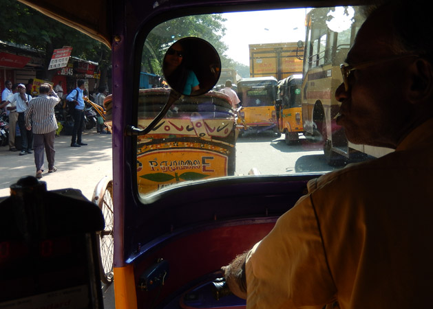 Rickshaw ride in Chennai, India