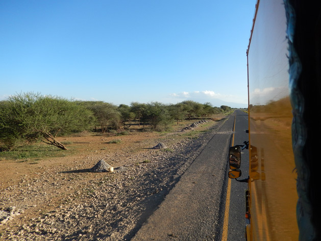 Cruising along rural parts of Tanzania.
