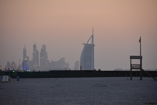 View of the Burj Al Arab Hotel from Jumeirah Beach.