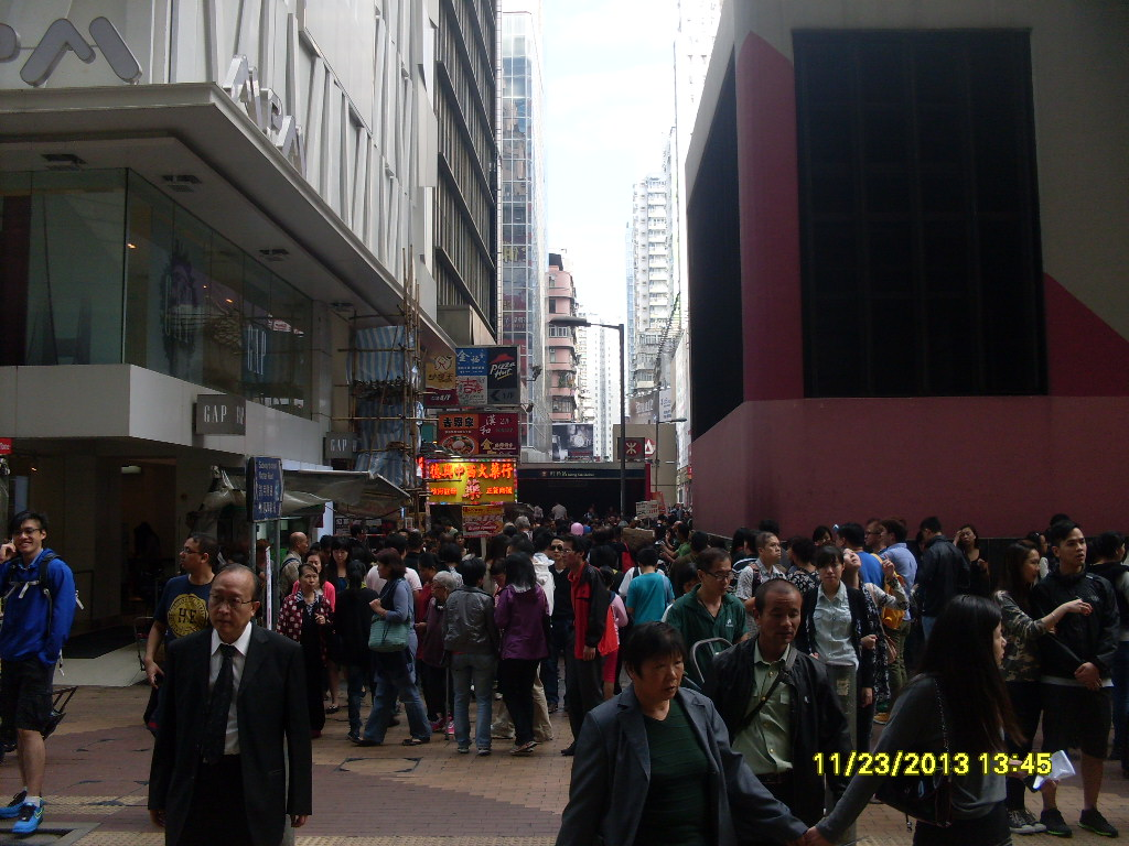 From Anil:  I took this photo in my last visit to MongKok, one of the densest shopping districts.