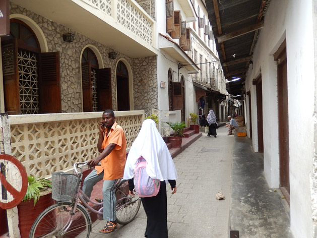 The narrow alleys of Stone Town.