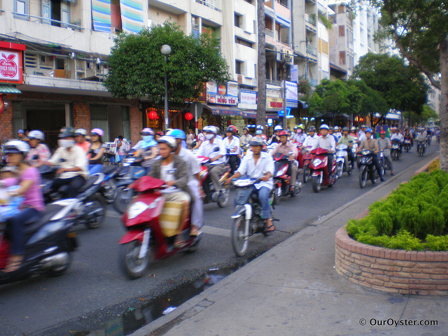 From Jade: The most crowded place I have ever been definitely has to be HCMC in Vietnam. Crossing the street was a death defying adventure amongst the millions of scooters that wizz down the streets.