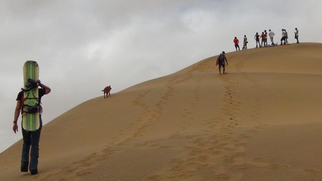 climbing-the-dunes