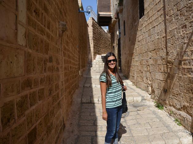 Alissa in the streets of Jaffa,