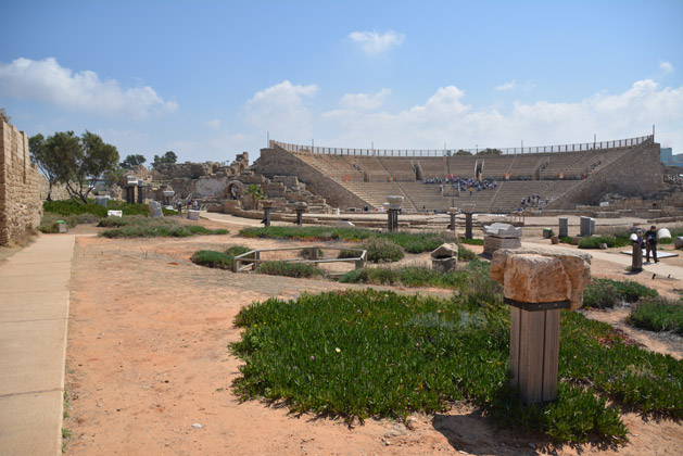 Caesarea's Theater seen from a distance.