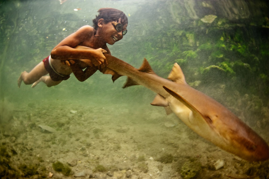 Bajau-Laut-Nomad-Boy-Shark