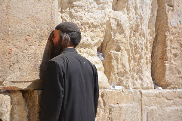 Weeping for the loss of the Second Temple.