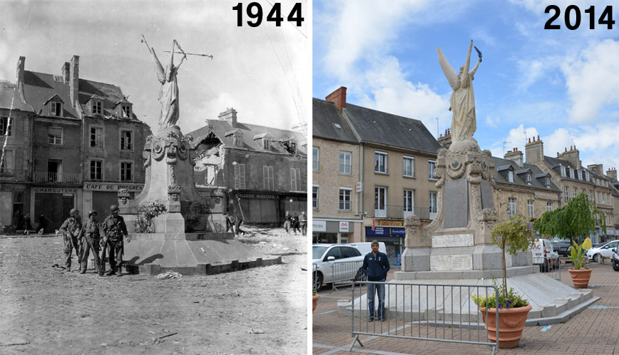 carentan-statue-then-now