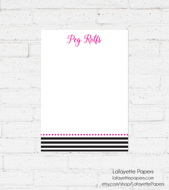 personalized-note-pad-kate-spade-inspired