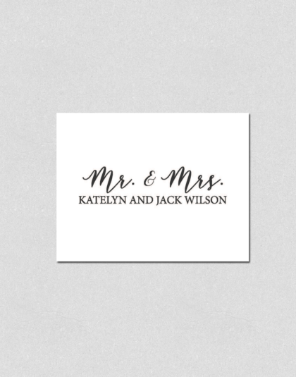 Mr. & Mrs. Note Cards