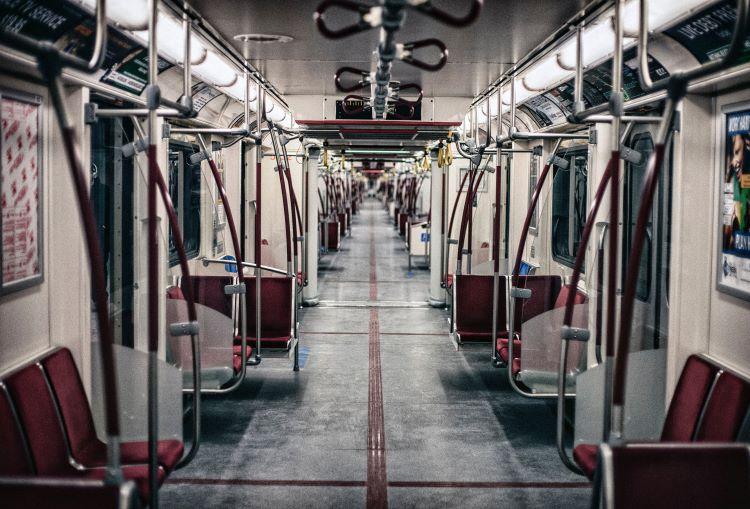 Photo of empty transit car