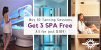 Buy 10 Tans, Get 3 Spa Free, Nov 2020