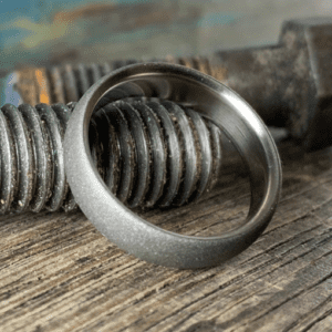 Sandblasted Titanium Ring